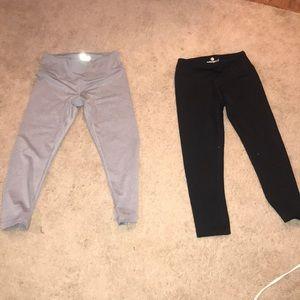 Two pair of leggings